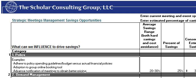 SMM - Savings Opportunities Template